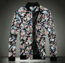 New Mens Spring Floral Blazers Suit Slim Fit Coats Jackets Plus Size 8 Colors