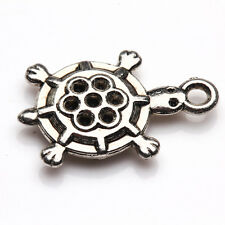 10/20Pcs Tibet Silver Turtles Shape Charms Pendant Making Necklace DIY 21*18mm