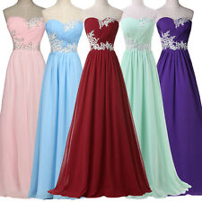 CHEAP BEADED Formal Long Evening Gown Party Ball Prom Bridesmaid Dress Plus 6-20