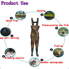 UK6/7/8/9/10/11/12 Waterproof Camo Nylon Chest Waders With Belt For Fishing