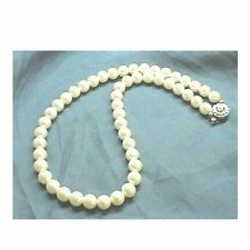 CREAM WHITE Sea Shell Pearl Necklace Wedding Bridal Bridesmaid Prom 6mm 8mm 10mm