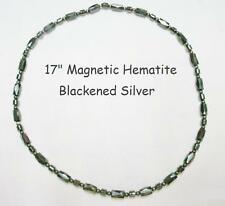 Hematite Necklaces Stretch OR Clasp, Magnetic, Non Magnetic, Black, Red, White