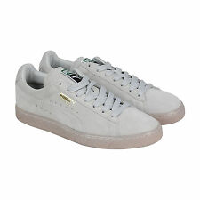Puma Suede Classic+ Iced Mens Grey Purple Suede Lace Up Sneakers Shoes