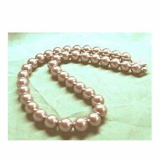 BROWN Sea Shell Pearl Necklace Wedding Bridal Bridesmaids Gift Prom 6mm 8mm 10mm