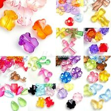 New Wholesale Transparent Acrylic Plastic Beads Assorted DIY Jewelry Findings
