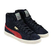 Puma X Alife Suede Mid Mens Black Suede High Top Lace Up Sneakers Shoes