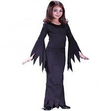 CHILDRENS MORTICIA ADDAMS FAMILY GIRLS HALLOWEEN FANCY DRESS COSTUME KIDS OUTFIT