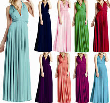 Women Long Wrap Convertible Bridesmaid Swing Evening Party Prom Dress Maxi Dress