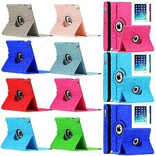 For iPad 4 3 2 360 Rotating Magnetic Cute Cartoon Leather Case Smart Cover +Gift