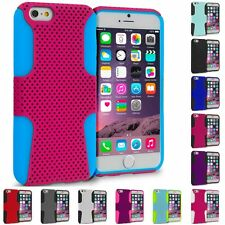 For Apple iPhone 6S Plus (5.5) Hybrid Mesh Shockproof Hard Soft Skin Case Cover
