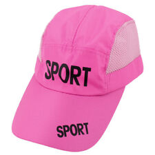 Adjustable Hook Loop Stripes Letters Print Sun Visor Baseball Cap Hat for Lady
