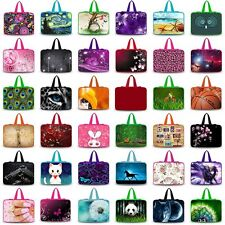 "Luxury Style 17"" 17.3"" 17.4"" inch Laptop Soft Bag Sleeve Case Cover +Hide Handle"