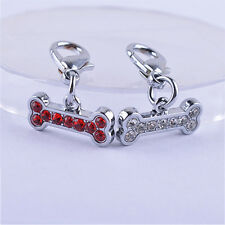 New Dog Collar Charm Pendent Jewelry Rhinestones Dog Tag Necklace Accessories