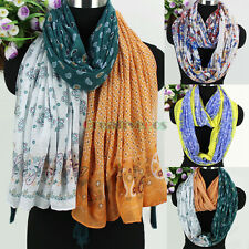 Fashion Abstract Tribal Pattern&Floral Paisley Print Long Scarf/Infinity Scarf