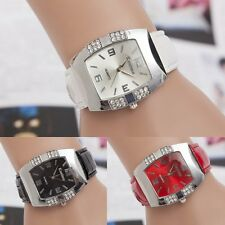 Leather Vogue Casual Women Girl's Crystal Dial Quartz Sport Analog Wrist Watch