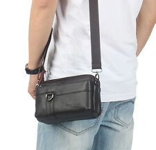 New Men Genuine Leather Messenger Shoulder Belt Sling Chest Fanny Pack Waist Bag