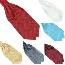 New Mens Long Satin Scarves Ascot Ties Gentlemen Neck Tie Wedding Scarf Cravat