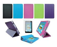 Folio Cover Case and Screen Protector for Toshiba Encore Mini WT7-C16MS Tablet