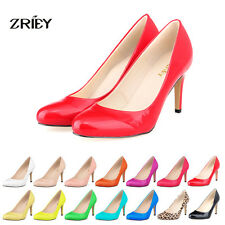 Womens Shoes High Heels PU Leather Closed Pointed Toe Stiletto Party Dress Pumps