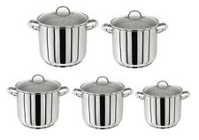 Judge Stainless Steel Induction Stockpot Pot Saucepan Pan & Vented Glass Lid