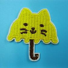 Cat Kitty Iron on Sew Patch Cute Applique Badge Embroidered Rain Baby Kids Baby