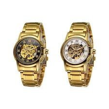 Mens Skeleton Wrist Watch Automatic Mechanical Luxury Stainless Steel Sport R0MB