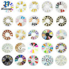 Blueness 1 Wheel 3D Nail Beads Art Acrylic Alloy Rhinestones Decoration Manicure