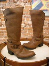Born Moana Tan Brown Leather Comfort Western Riding Boots NEW