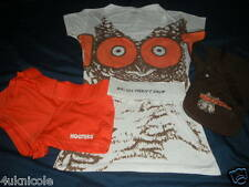 AUTHENTIC HOOTERS UNIFORM COSTUME OUTFIT Shirt Shorts Apron
