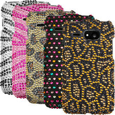 Bling Diamante Hard Cover Shiny Case Protector Kyocera Event C5133 Virgin Mobile