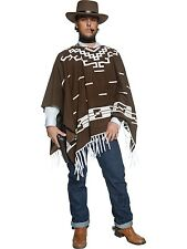 Adults Mens Authentic Western Wandering Gunman Fancy Dress Costume - 2 Sizes