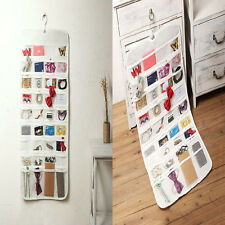 80 Pocket Jewelry Hanging Storage Organizer Holder Earring Bag Pouch Display Hot