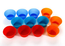 12/24Pcs Soft Silicone Cake Muffin Chocolate Cupcake Liner Baking Cup Mold