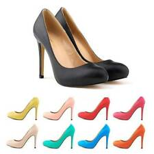 Women's High Heel Almond Toe Platform Classic Stiletto Pump Shoes Nubuck Leather