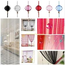 Decorative String Curtain With Beads Tassels Door Window Panel Room Divider hot