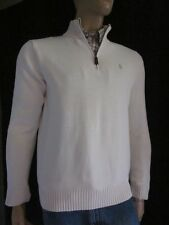 Polo Ralph Lauren CREAM 1/2 HALF ZIP SWEATSHIRT NWT L