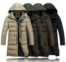Fashion Mens Winter Duck Down Outwear thicken Hooded Parka Long Coat jacket new