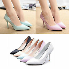Sexy Womens High Heels Pointed Toe Shallow Mouth Stilettos Pumps OL Party Shoes