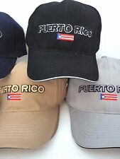 PUERTO RICO EMBROIDERY FLAG UNISEX ADULT CAP HAT ASS COLORS FITS ALL ADJUSTABLE