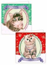 20 x Christmas Xmas Cards Cute Cat Kitten Dog Puppy Designs Animals School Kids