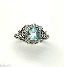 Blue Topaz Ring blue topaz 925 Silver ANTIQUE STYLE Sterling silver