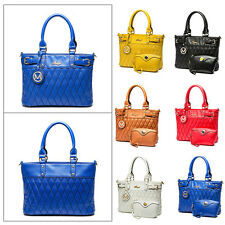 Ladies Women Quilted PU Leather Shoulder Satchel Handbag Evening Party Bag Gift