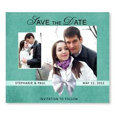 Bow Save The Date Wedding Invitation Magnet Personalized Save The Dates