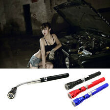 360°3-LED Flexible Flashlight Torch Telescopic Bendable Magnetic Pick Up Tool