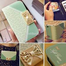 Cute Girl Bow Flip Wallet Leather Cover Case For Samsung Galaxy S3 S4 iPhone
