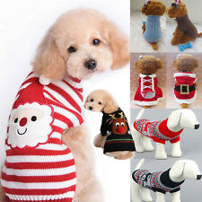 Pet Puppy Cat Dog Christmas Clothes Costumes Knitted Sweater Coat Hoodie Apparel