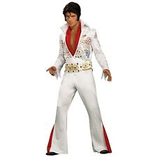 Mens Collectors Elvis Presley Costume Retro Rock And Roll Jumpsuit Party Outfit