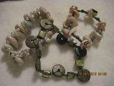 Vintage LOT of 3 Shell/Mother of Pearl Beaded Stretch Bracelets......#5703