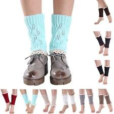 Short Knitting cute Ankle Cotton unisex hollow Out Socks Leg Warmers Boot Cover