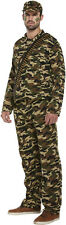 Fancy Dress Mens Army ier Infantry Combat Camoflauge man Fits To 111.8cm chest
